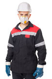 Worker wearing safety protective gea Stock Photography