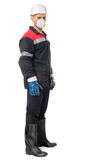 Worker wearing safety protective gear Stock Photos
