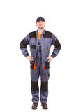 Worker wearing worksuit. Stock Images