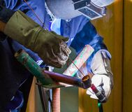 Argon welding Royalty Free Stock Photo