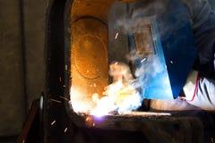 Worker welder in the metal industry Stock Photo