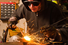 Worker welding Stock Image