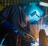 Worker welding Royalty Free Stock Photography
