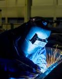 Worker welding Stock Photos
