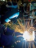 Worker welding Stock Photography