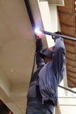 Worker welding Royalty Free Stock Photo