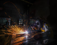 Worker welding Royalty Free Stock Images