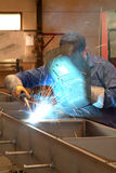 Worker in welding Royalty Free Stock Photography
