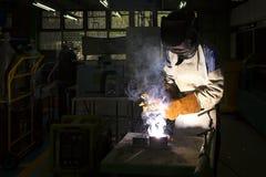 Worker welding steel Stock Photos