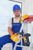 Worker on well deserved break Stock Photos