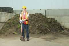 A worker who recycling thing on recycle center Royalty Free Stock Image