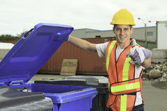 A worker who recycling thing on recycle center Royalty Free Stock Photos