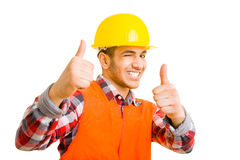 Worker winking Stock Photos