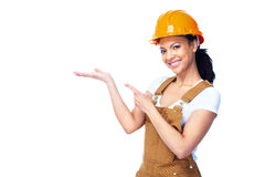 Worker woman. Royalty Free Stock Photo