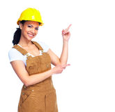 Worker woman. Stock Photo