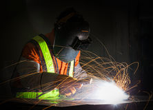Worker work hard with welding Stock Photography