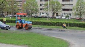 Worker work street repair stock video