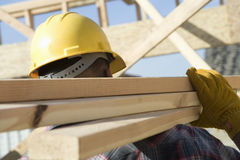 Worker Working At Construction Site Stock Photos