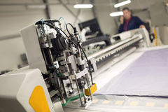 Worker working in fabric industry Royalty Free Stock Image