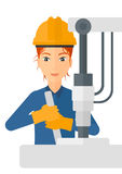 Worker working with industrial equipment Stock Photography