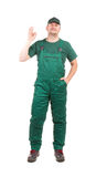Worker in workwear. Royalty Free Stock Photo