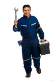 Worker with wrench Royalty Free Stock Image