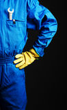 Worker with wrench in his pocket Royalty Free Stock Photography