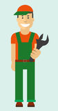 Worker with wrench Stock Photos