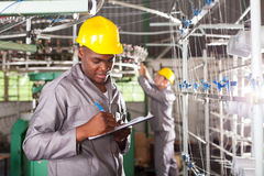 Worker writing report Stock Images