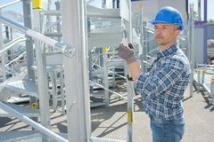 Worker on the yard royalty free stock photo