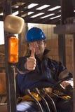 Workerer de construction sur le lieu de travail Photographie stock