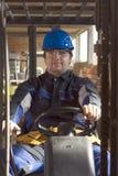 Workerer della costruzione sul posto di lavoro fotografia stock libera da diritti