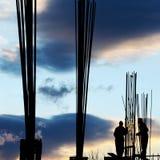 Workersâ Schattenbild Stockfoto