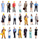 Workers. Business people, builders, nurses, doctors, workers. Isolated over white background Royalty Free Stock Image