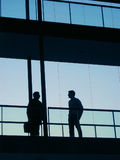 Workers. In the glass Royalty Free Stock Photography