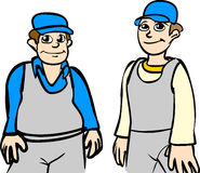 Workers. Vector illustration of worker men Royalty Free Stock Photo