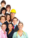 Workers. Businessman, business women, builder, nurse, architect, student. Over white background
