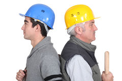 Workers with age difference Royalty Free Stock Image