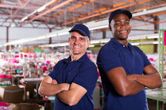 Workers arms crossed Royalty Free Stock Photography