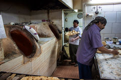 Workers in a bakery Royalty Free Stock Image