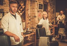 Workers of barber shop Royalty Free Stock Images