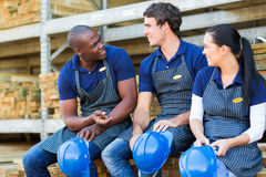 Workers during break Stock Photography