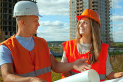 Workers on the building site Royalty Free Stock Photo