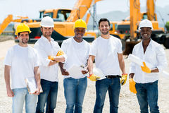 Workers at a building site Stock Images