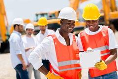 Workers at a building site Stock Photos