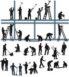 Workers in building trade Stock Photography