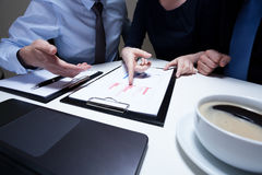 Workers on business meeting Royalty Free Stock Photos