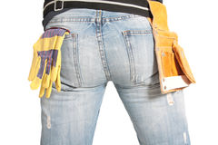 Workers butt. On white background Stock Images