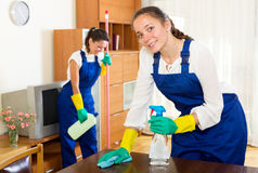Workers of cleaning company Royalty Free Stock Image