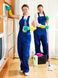 Workers of cleaning company Royalty Free Stock Photos